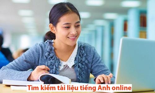 Tìm kiếm tài liệu tiếng Anh online