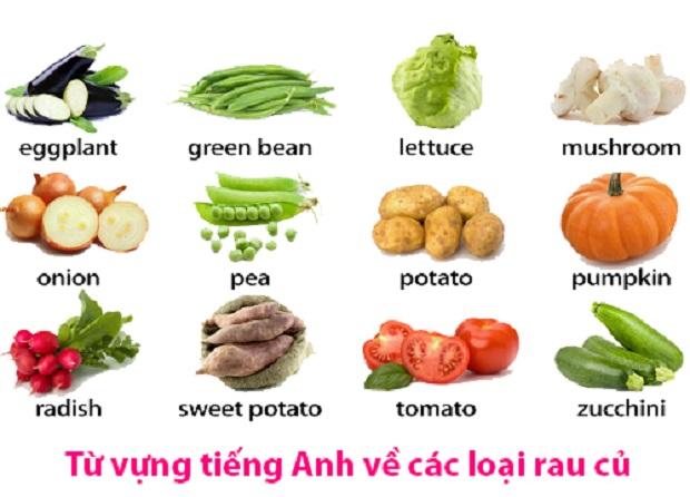 Từ vựng tiếng Anh về các loại rau củ