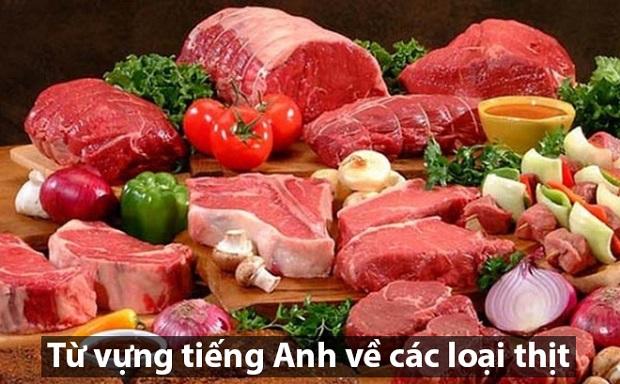 Từ vựng tiếng Anh về các loại thịt