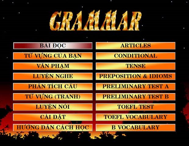 Phần mềm English Grammar