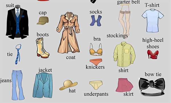 Từ vựng tiếng Anh về trang phục